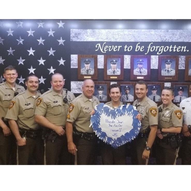 Police Visit Banner Displayed